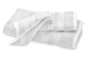 Folded white towel